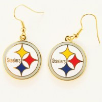 Pittsburgh Steelers Logo Ear Rings