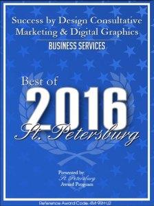 Success by Design Best of 2016 St. petersburg, FL Award