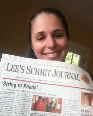 Tina Garrett in the Lee's Summit Journal