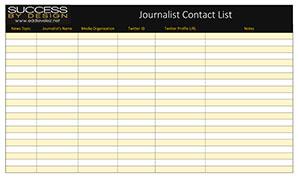 Journalist Contacts List