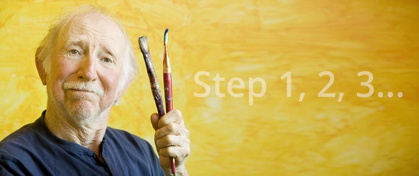step 1, 2, 3...