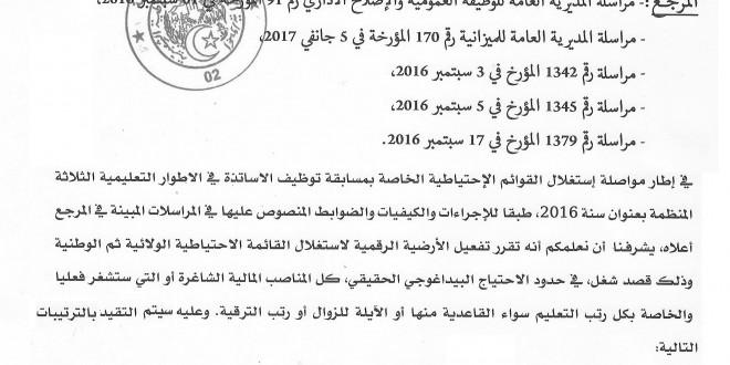 المسابقات المهنية موقع الدراسة الجزائري