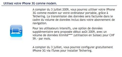 Le mode modem annoncé chez Swisscom