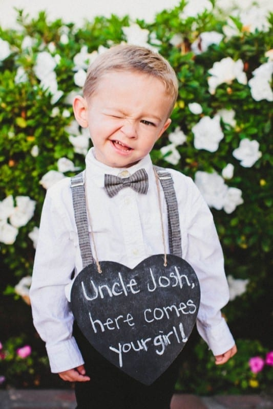 Sunday Inspiration 19 Cute Signs for Ring Bearers  Eddy