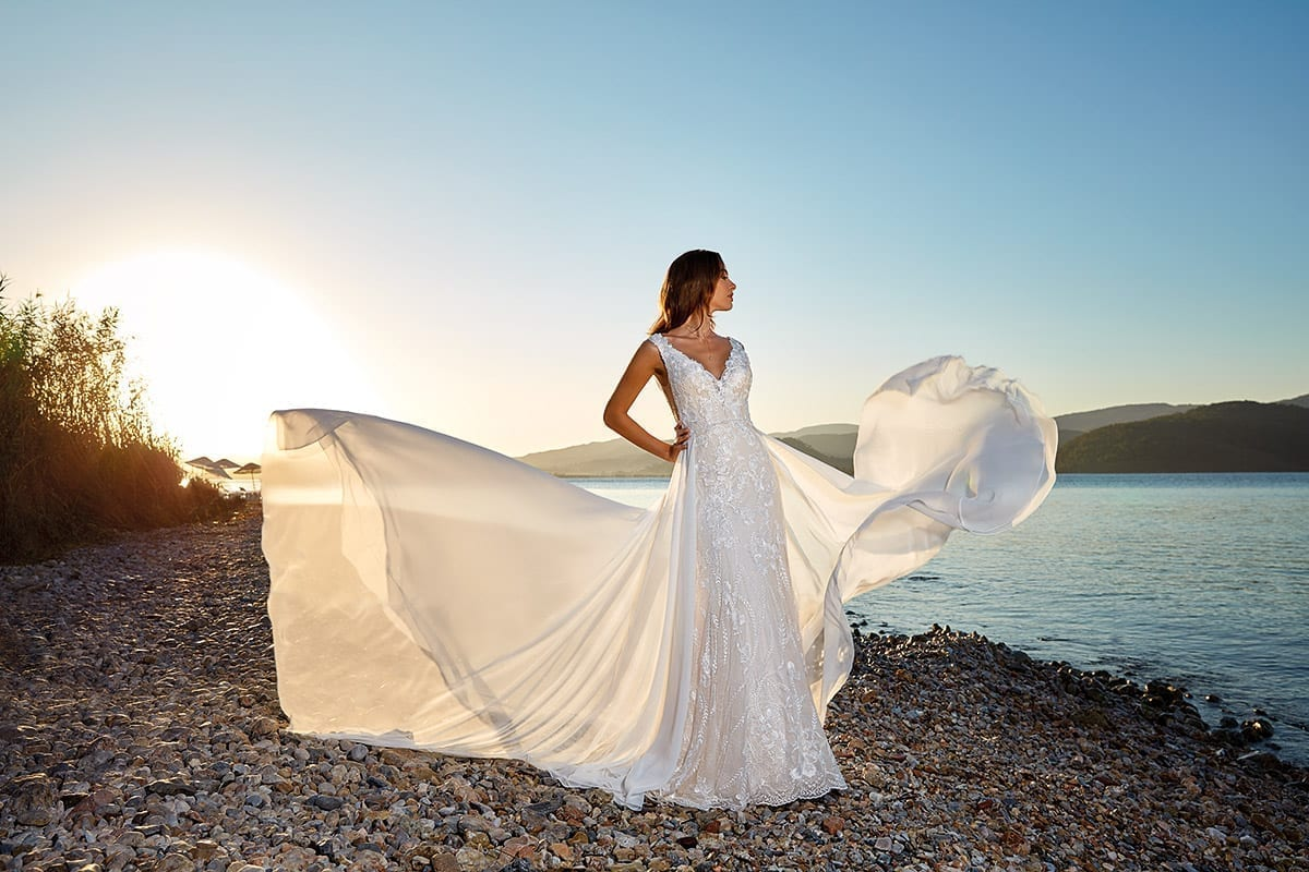 Detachable Train – Eddy K Bridal Gowns