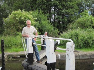 Ed Wojtaszek Standing on a Lock Gate