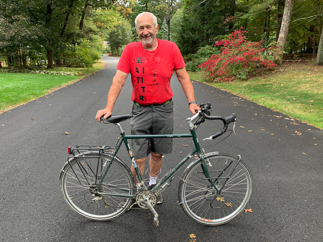 My touring bicycle that has 20,000 miles on it