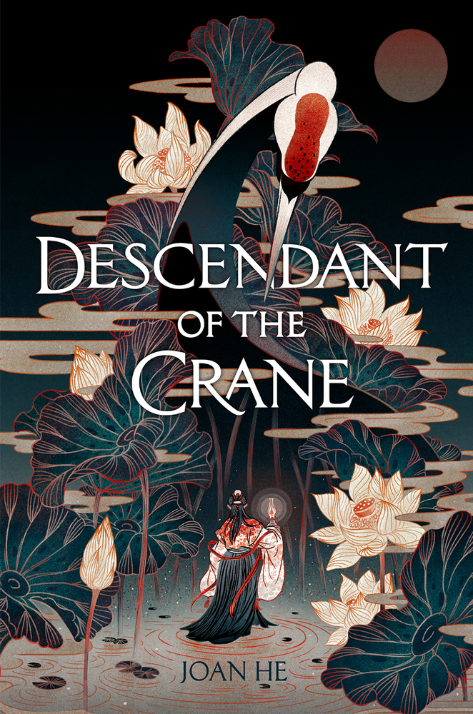 Photo of book cover: Descendant of the Crane by Joan He.