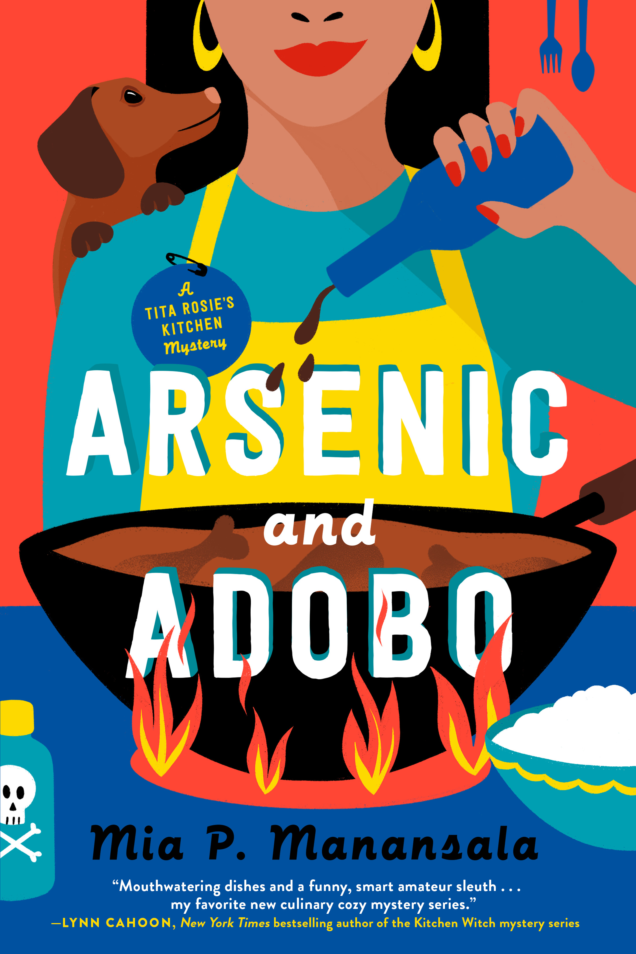 Book cover: Arsenic and Adobo by Mia P. Manansala