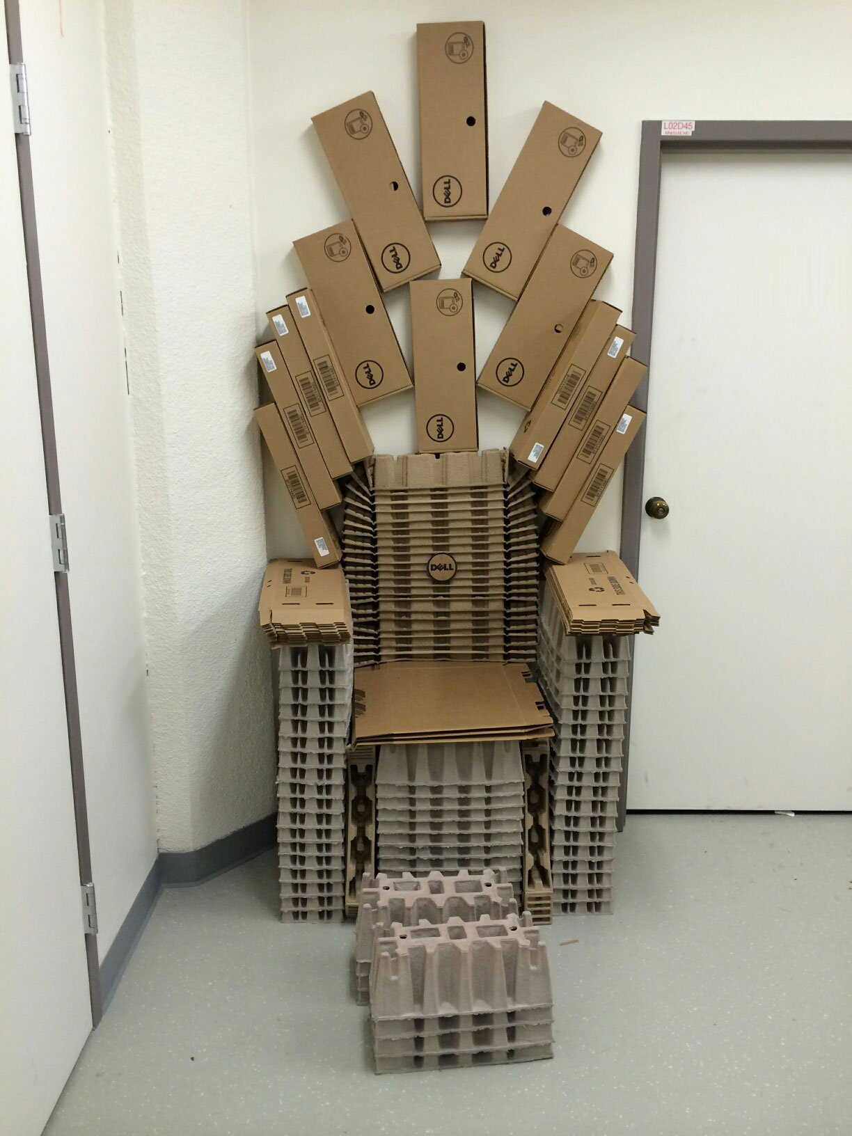 game of throne chair mickey mouse and a half ethan allen cardboard thrones edel alon