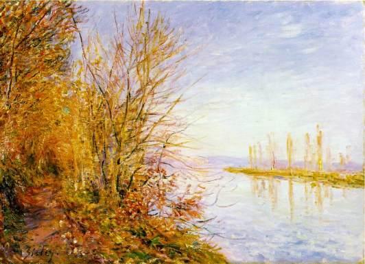 Alfred Sisley, el camino del bosque, veranillo de san martin (1880)