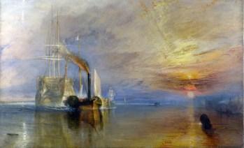 Joseph William Turner, el temerario camino al desguace o remolcado al dique seco (1838), Galería nacional de Londres.