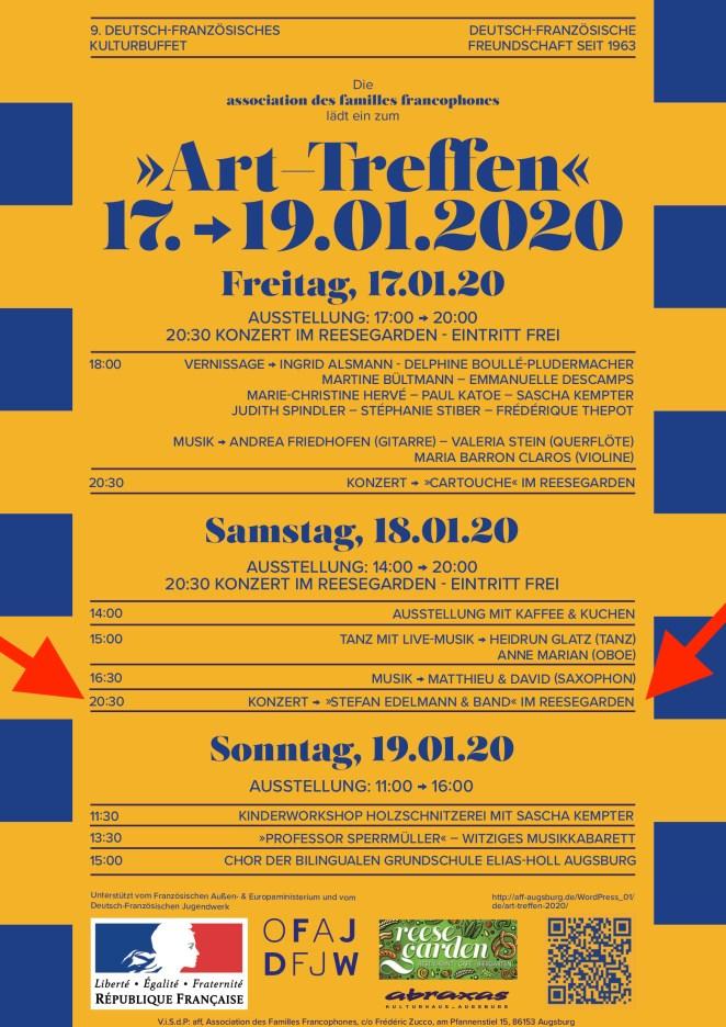 """Plakat des """"Art-Treffen"""" in Augsburg"""