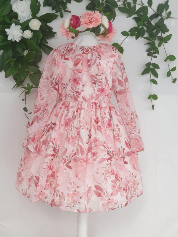 Fille robe patachou fleuri rose 85 euros du 4 ans au 12 ans