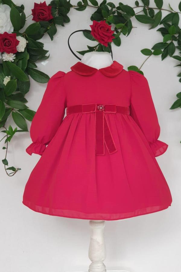 Layette fille robe patachou rouge 85 euros du 1 ans au 3 ans