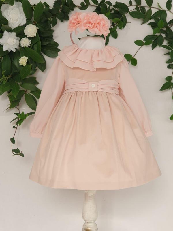 Layette fille robe velours rose patachou 65 euros de 6 mois au 3 ans