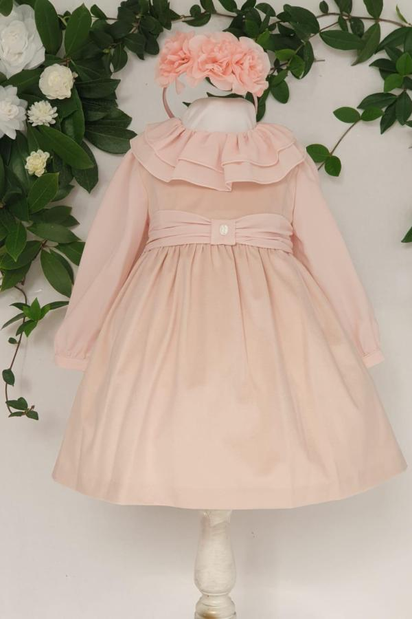 Layette fille robe velours rose patachou 65 euros de 6 mois au 3 ans