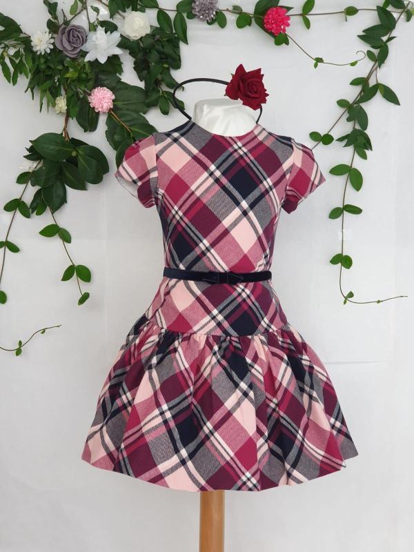 Robe écossaise rose Mayoral 47 euros du 2 ans au 9 ans