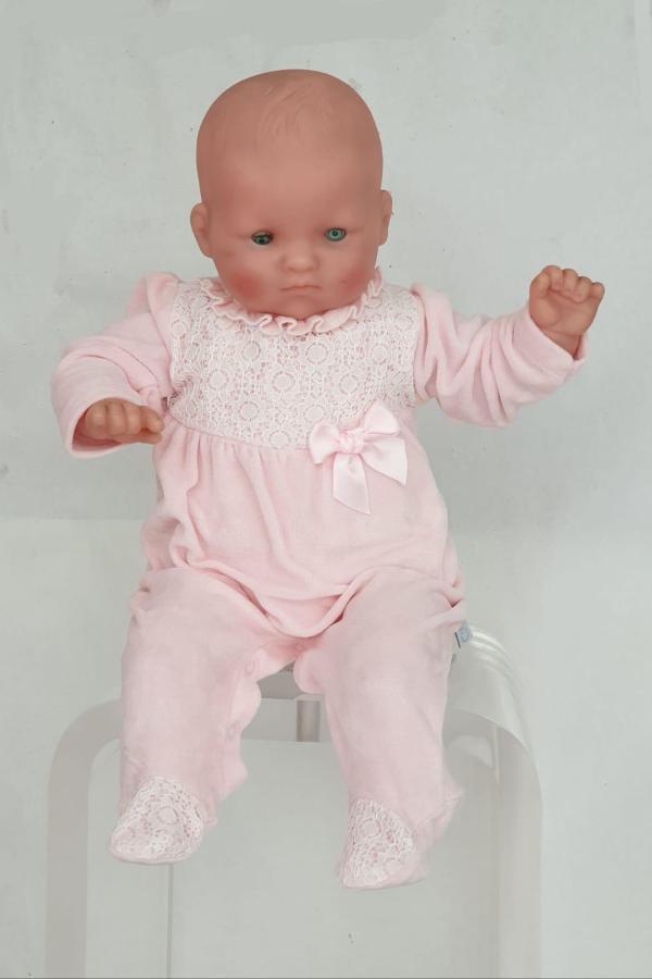 Pyjama rose dentelle 18 euros du 1mois au 6 mois