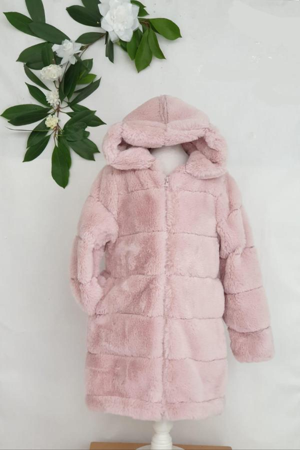 Manteau fourrure rose 35 euros