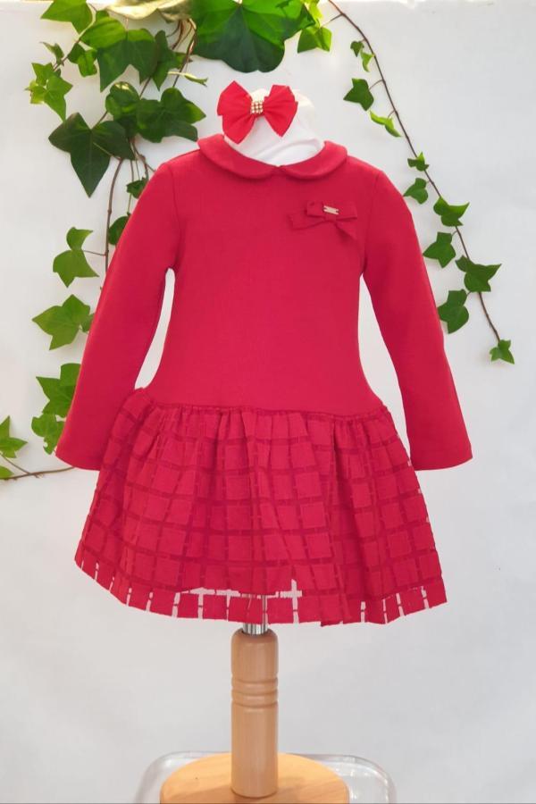 Layette fille robe rouge Mayoral 31 euros du 6 mois au 3 ans
