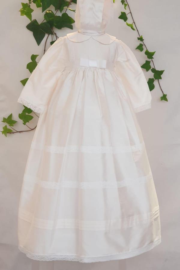 robe de britmyla robe Ethan 195 euro robe en soie naturelle doublée coton avec bonnet