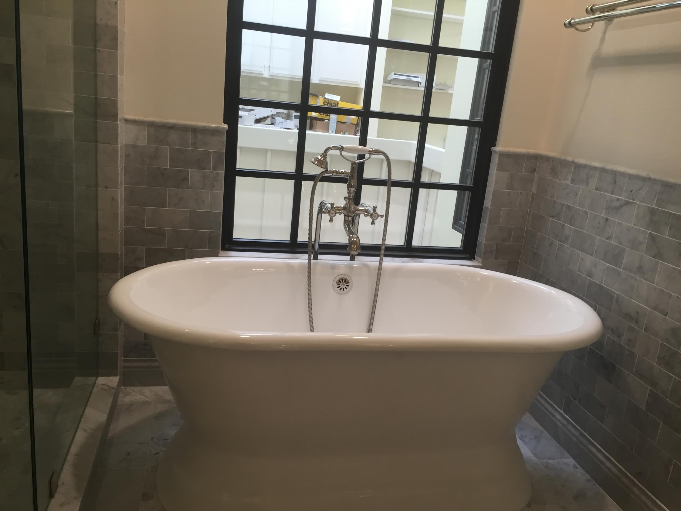 Freestanding Tub Master Bathroom Pacific Palisades  Eden
