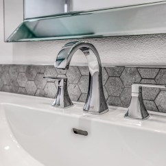 Kitchen Sink With Backsplash Shun Shears Hexagon Bathroom Sinks Home Ideas