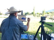 DB15224A 35BD 40BA AE17 1A64C77A7515 1024x764 - Outdoor oil painting demonstration was amazing