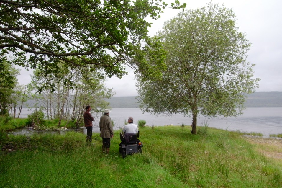 A breather and another round of discussion at the edge of the Loch.