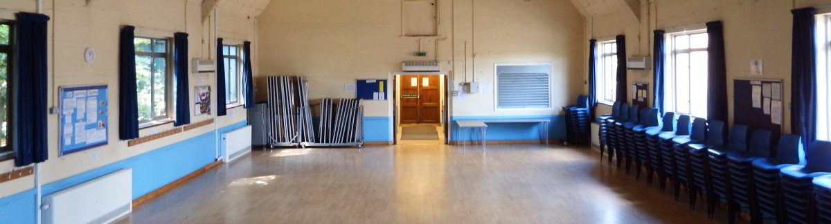 venue floor at edenbridge village hall