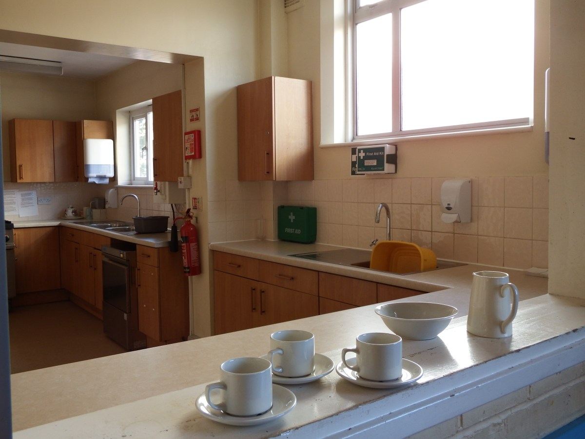 kitchen facilities at Edenbridge Village Hall