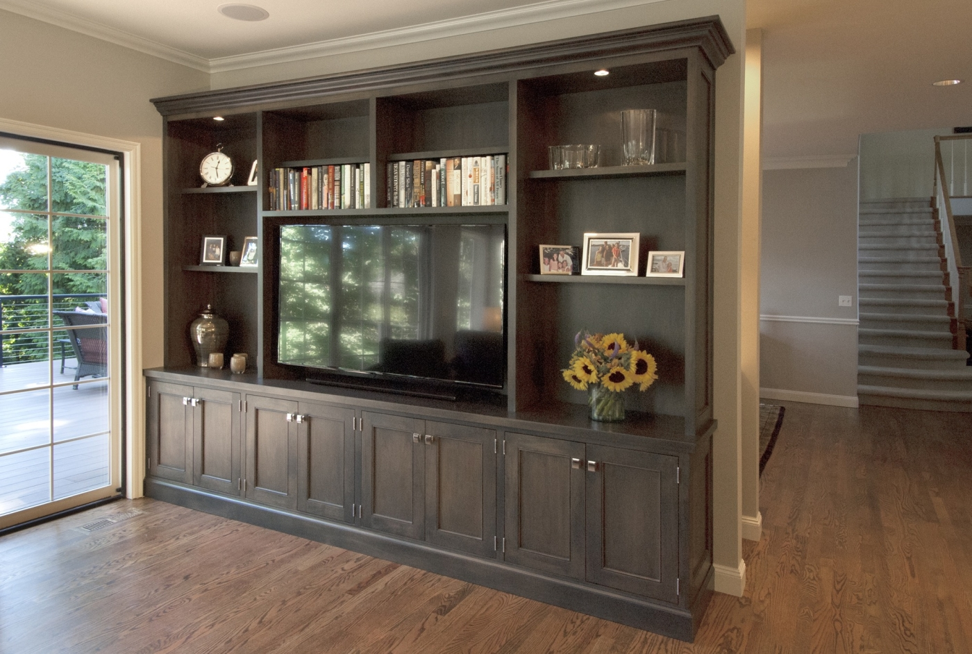 Bookshelf and Entertainment Center
