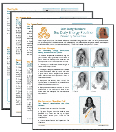 The Daily Energy Routine Handout Der Eden Energy Medicine