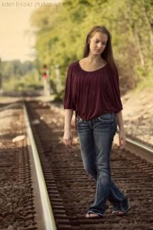 Train Track Dusk Eden Frazier