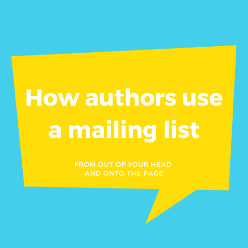 How Authors Use A Mailing List