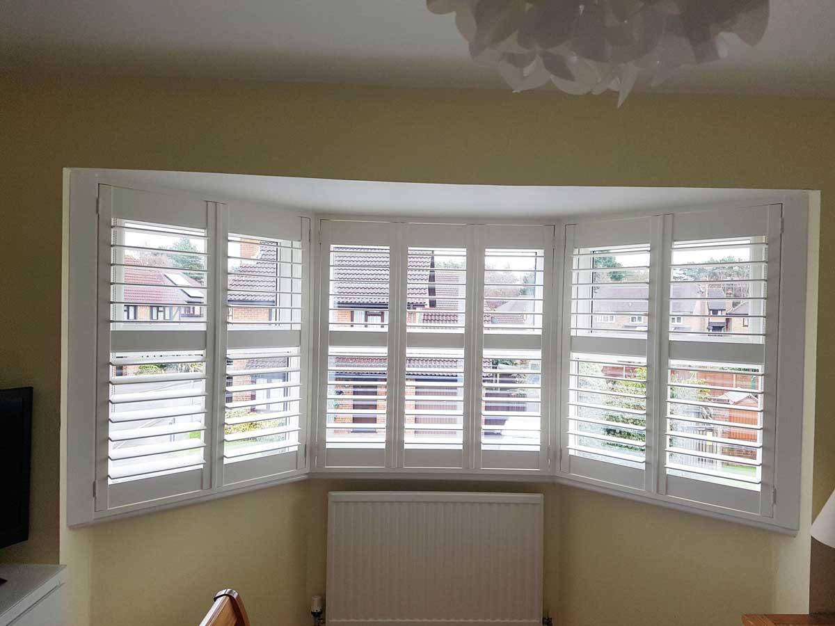 Bay Window Shutters For Bedroom For Home In Bracknell