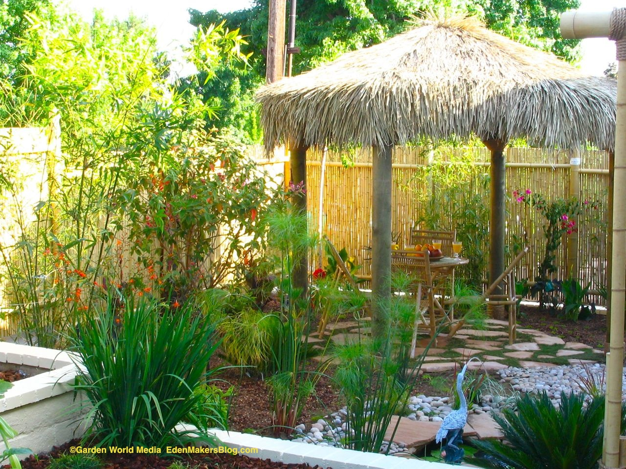 Tropical Backyard Landscaping Ideas  Home Design Elements
