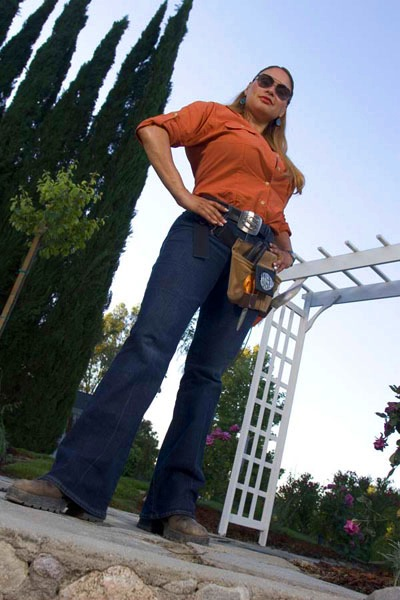 "Shirley Bovshow, garden designer and co-host of garden makeover show ""Garden Police"" on Discovery Home Channel"