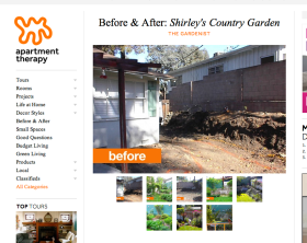 Apartment Therapy The Gardenist Before and After Shirley's Country Garden