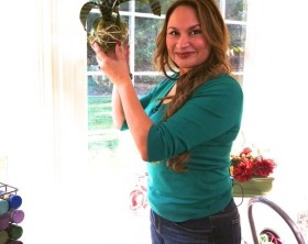 Shirley Bovshow creates a string garden or kokedama on the Home and Family Show, Hallmark Channel
