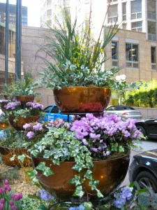 Copper garden planter