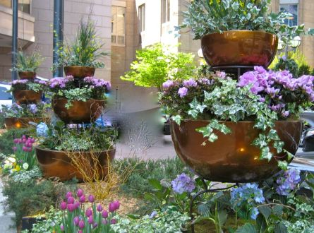 three tiered garden containers
