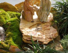Japanese garden sculpture for bonsai