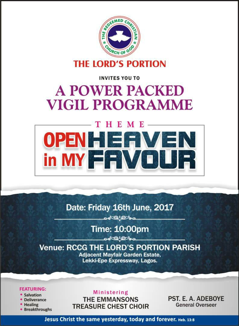 RCCG The Lord's Portion