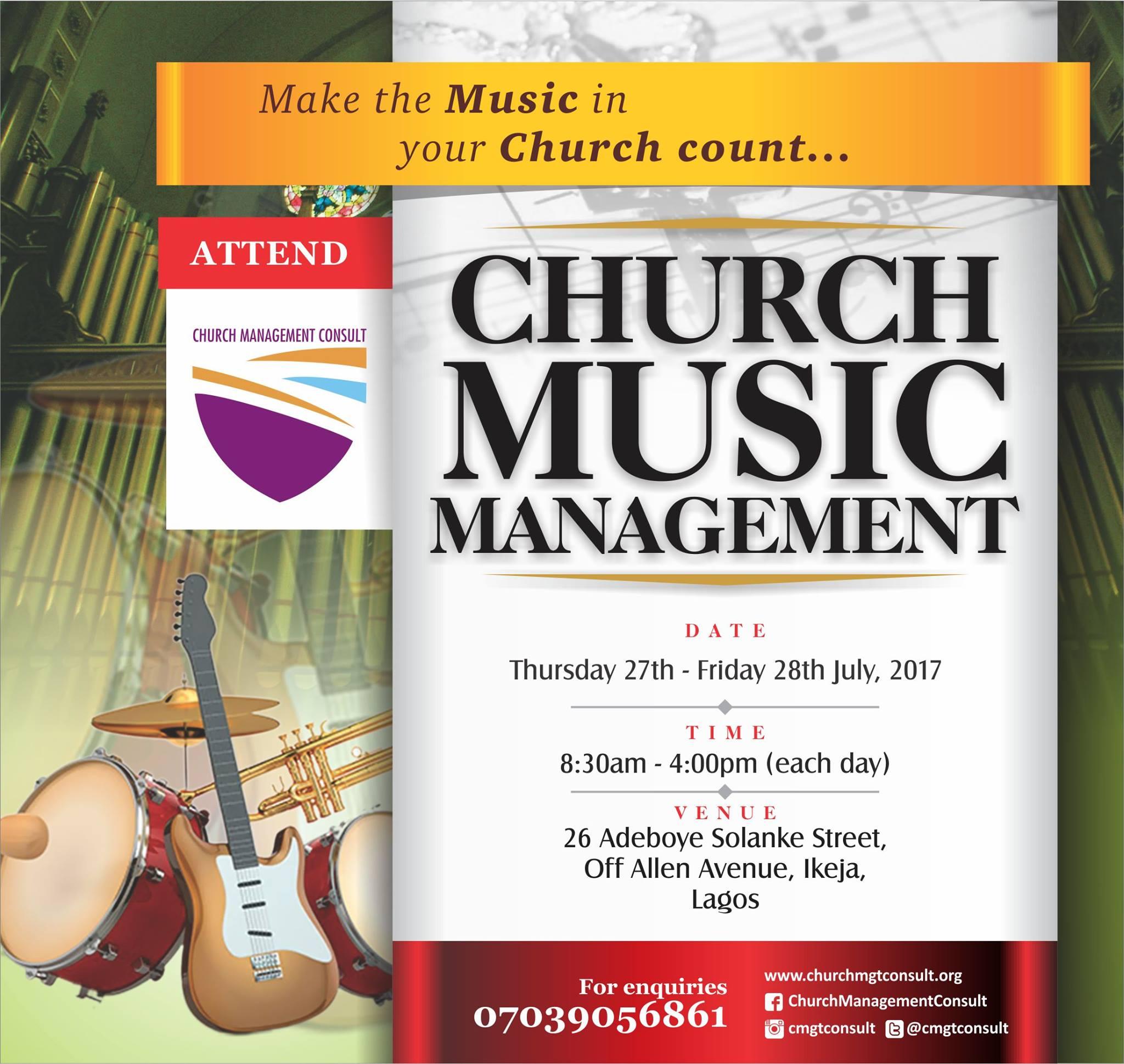 Church Music Management Workshop