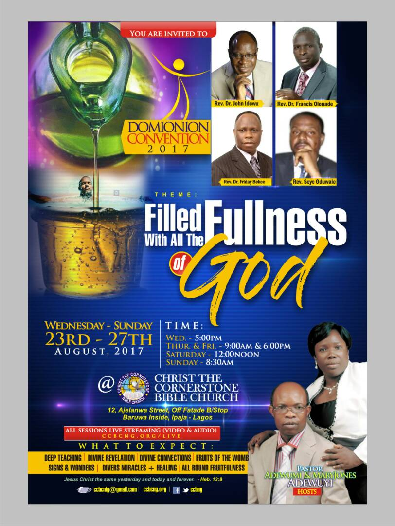Dominion Convention 2017: Filled With All The Fullness Of GOD