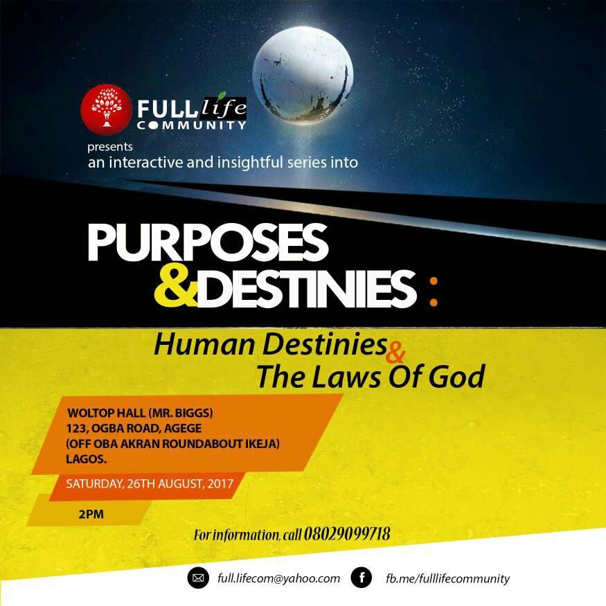 Purposes & Destinies 2.0