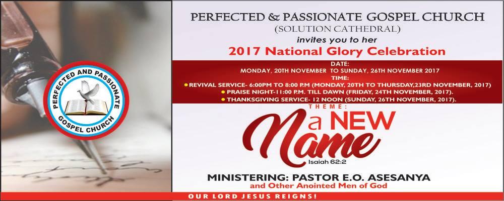 2017 National Glory Celebration