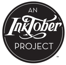 an inktober project black logo